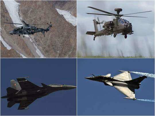 facing china threat, india deploys hal lch, p-8i, mig-29k, sukhoi 30 mki, jaguar, mirage 2000, apache and chinook in ladakh rafale ready for deployment