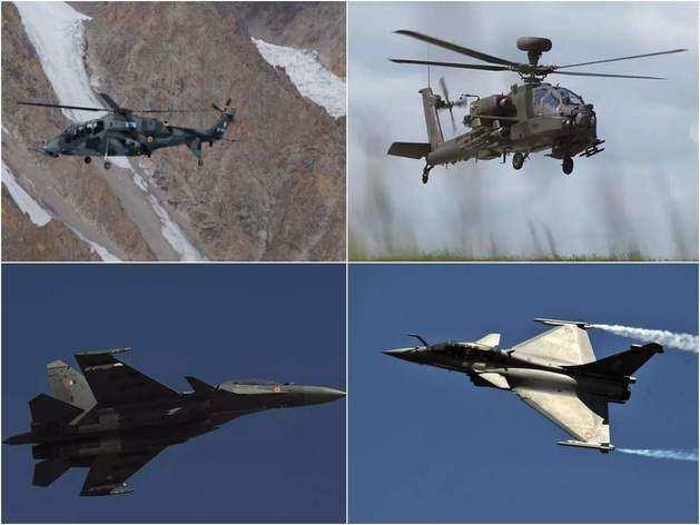 LCH, Mig-29K, सुखोई, अपाचे, चिनूक... लद्दाख बॉर्डर पर चीन के लिए तैनात ये लड़ाकू विमान