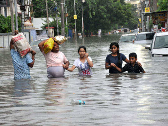 flood havoc in bihar, more than 77 lakh people affected