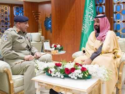 सऊदी क्राउन प्रिंस सलमान के साथ जनरल बाजवा