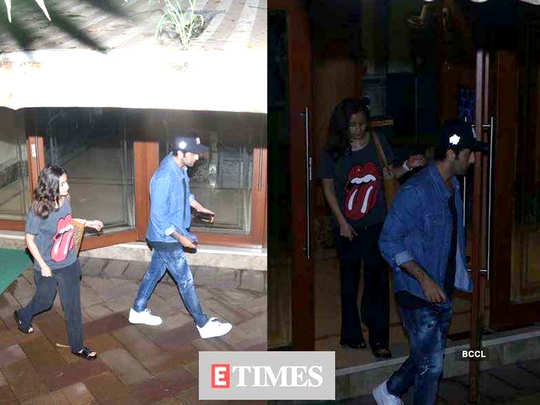after learning about sanjay dutt lung cancer ranbir kapoor and alia bhatt meet actor at his bandra residence