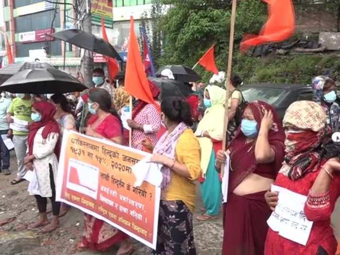 nepali people hold protest near pakistani embassy in kathmandu over atrocities against hindus