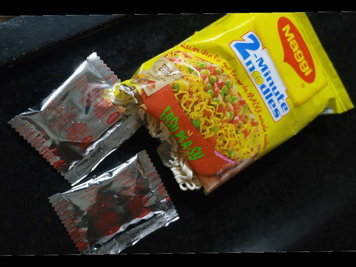 Maggi with 2 masala packet. PC: Twitter/ Shashwat Dwivedi