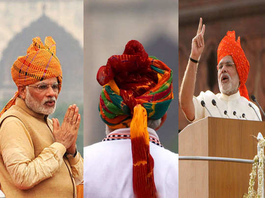 independence day 2020 7 years, 7 different styles ... special pictures of pm modi safa
