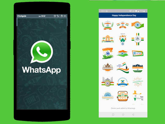 Whatsapp Independence Day stickers