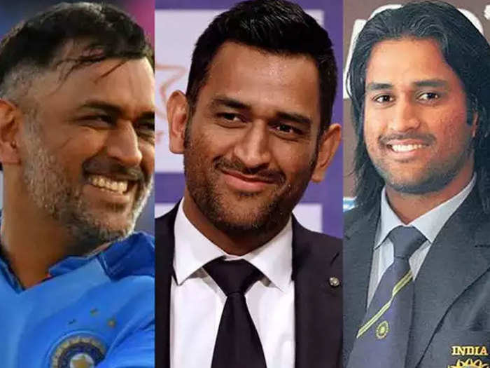 watch photos of ms dhoni s stylish hair style