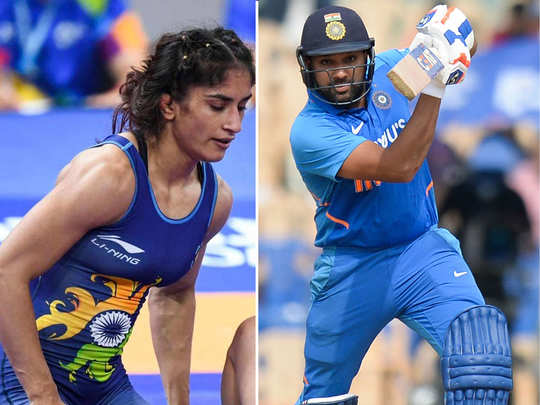 rohit sharma vinesh phogat among unprecedented 5 for khel ratna know everything about them