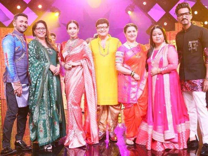 malaika arora in red silk sari: मलाइका अरोड़ा ने ...