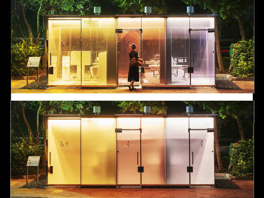 Transparent toilet in Japan. PC: Nippon Foundation