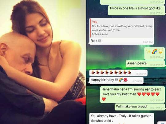 mahesh bhatt and rhea chakraborty leak chat may go against her
