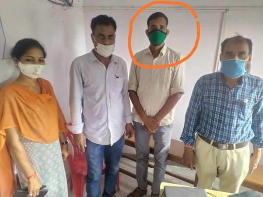 उदयपुर में कानोड़ पटवारी 4 हजार रुपए की रिश्वत लेते रंगे हाथ गिरफ्तार
