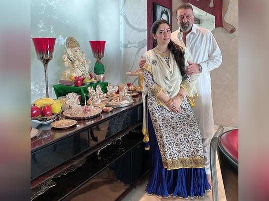 पत्नी मान्यता दत्त के साथ संजय दत्त