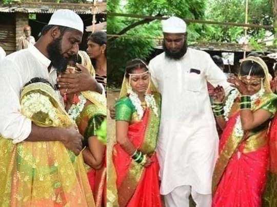 muslim man getting daughters of his rakhi sister married as per hindu ritual in maharashtra