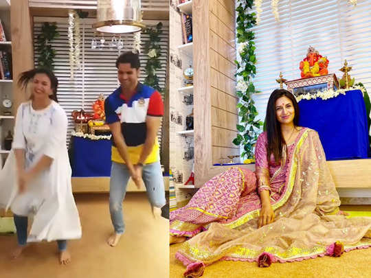 video divyanka tripathi dances with husband vivek dahiya on ganpati visarjan did you watch