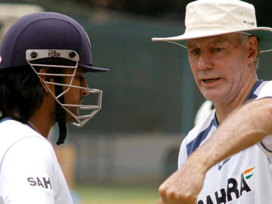 dhoni with greg chappell