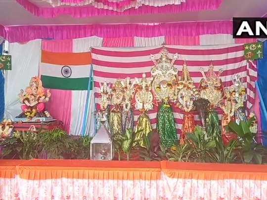 people celebrates ganesh chaturthi and observes muharram under one pandal in dharwad karnataka