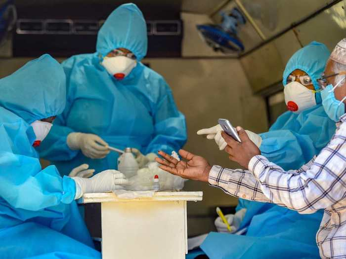 coronavirus good india good news positivity rate on decline since three fortnights