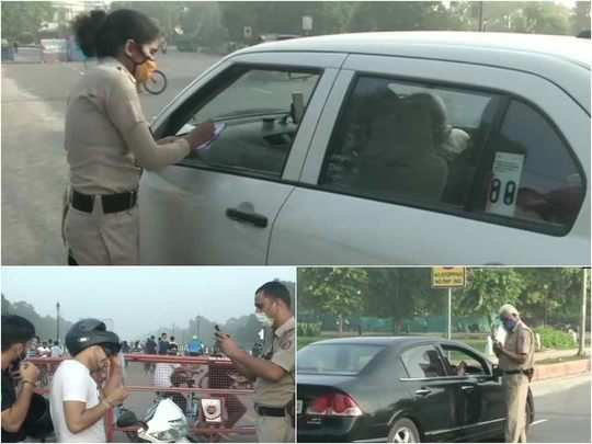 delhi traffic police challan issued for travelling without wearing masks
