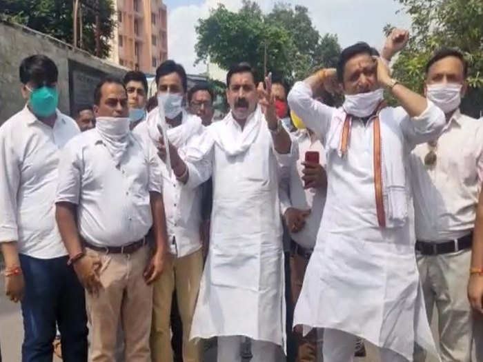 ब्राह्मण संगठनों का प्रदर्शन
