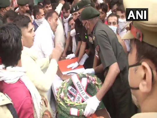 muzaffarnagar prashant sharma martyr in jammu kashmir dead body arrive see pictures