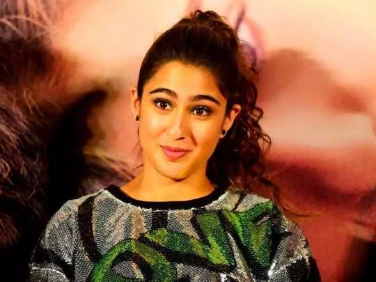 bollywood actress sara ali khan short denim stylish dress look in marathi