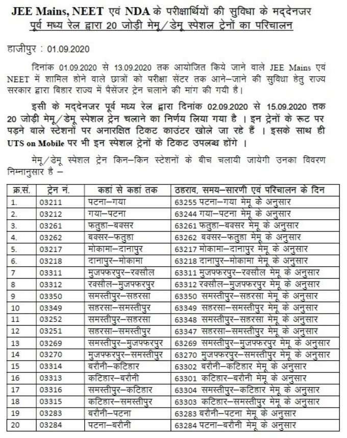 rail list 1