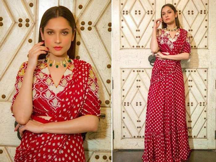 actress ankita lokhande look beautiful in saree see her photos in marathi
