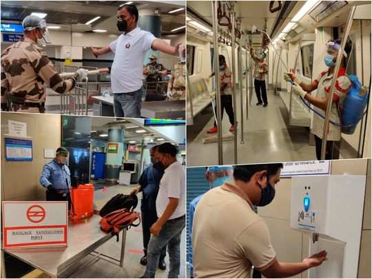delhi metro after lockdown photos how dmrc is getting ready for 7 september