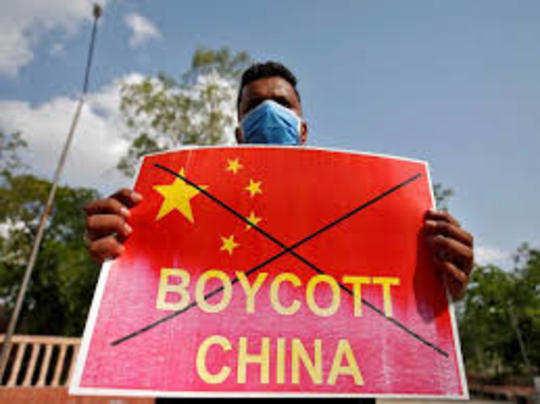 सीमा पर चीन की हरकतों के बाद से चीनी सामान के बहिष्कार की मांग उठी है।