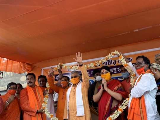 west bengal bjp president dilip ghosh claims in a rally that coronavirus has gone