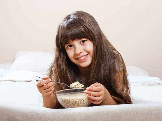 breakfast foods which will improve health of weak child in marathi