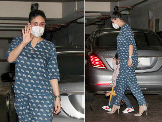 kareena kapoor looks stylish in blue co ord set its cost is completely budget friendly