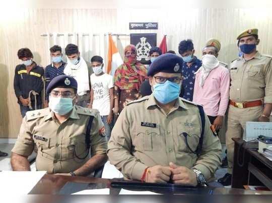 सुनार के घर डकैती करने वाली एक महिला सहित 9 गिरफ्तार