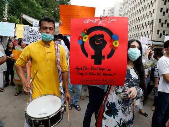 karachi protest reu
