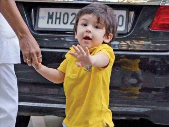 first words of taimur ali khan in hindi