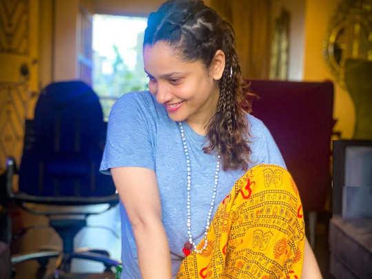ankita lokhande om print pajama makes people angry