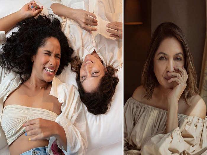 neena gupta looks beautiful and elegant in a photoshoot with daughter masaba gupta