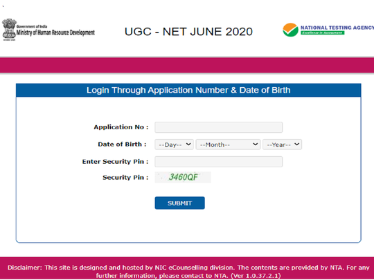 ugc net admit card 2020
