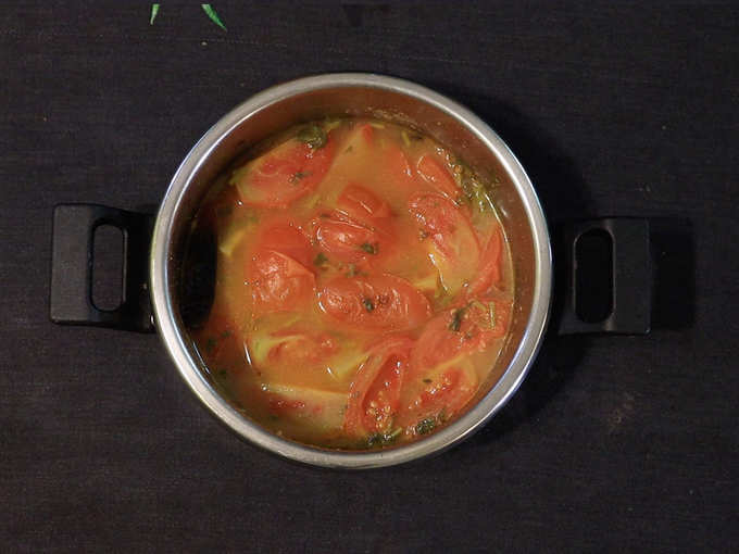 शिजवलेले टोमॅटो