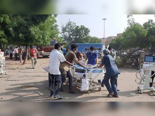 भीलवाड़ा के जिस अस्पताल से फैला था कोरोना, उसकी तीसरी मंजिल पर लगी आग, तो मची अफरा-तफरी