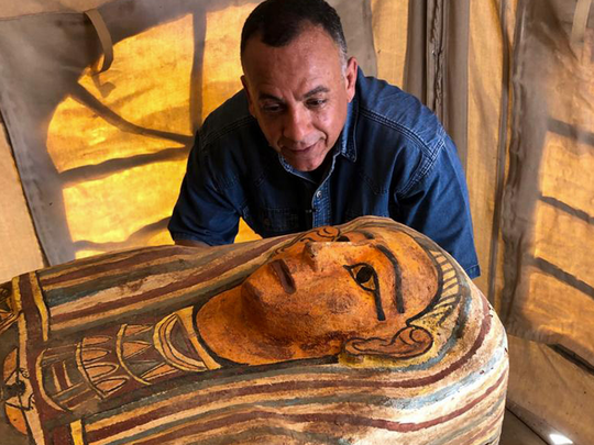 Sarcophagi buried for 2,500 years