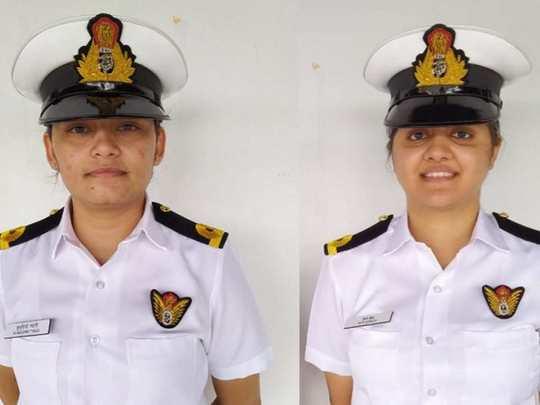sub lieutenants kumudini tyagi and riti singh to be deployed on indian navy warships