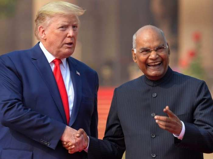 Trump and President Kovind 01