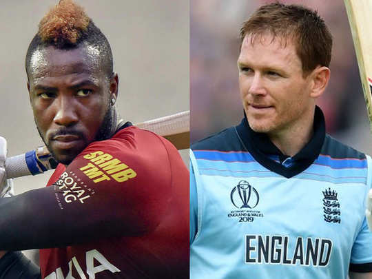 andre russell and eoin morgan