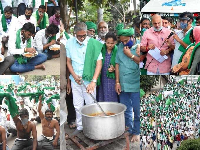 ಬೆಂಗಳೂರಲ್ಲಿ ರೈತರ ಶಕ್ತಿ ಪ್ರದರ್ಶನ