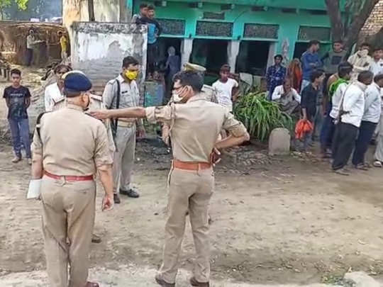 घटना के बाद मौके पर मौजूद पुलिस