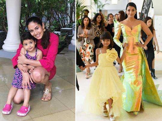 mira rajput kapoor-misha kapoor to aishwarya rai-aaradhya bachchan starkids twins with their mommy
