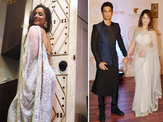 ankita lokhande looks beautiful in white saree people remembers sushant singh rajput