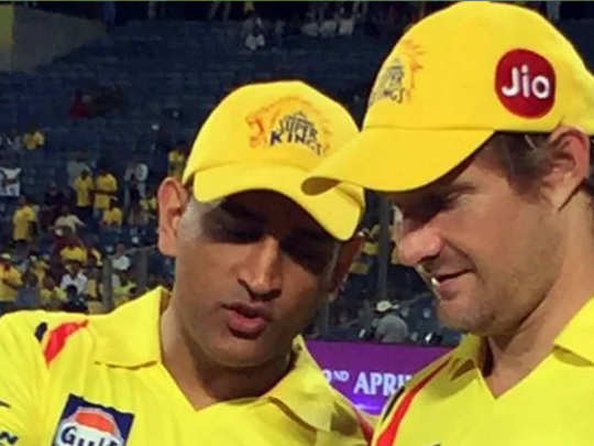 ms dhoni and shane watson