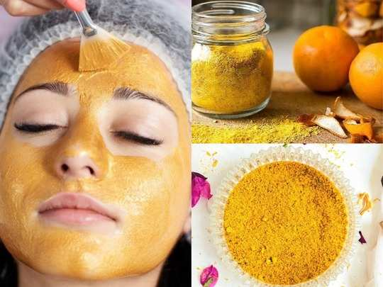 remove blackheads facial hair and get glowing skin with orange peel off mask